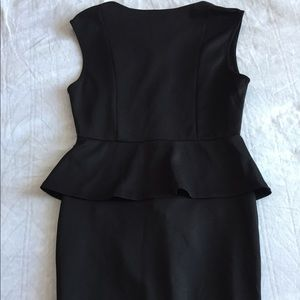 Sleeveless Black Peplum Dress (2 for $30)